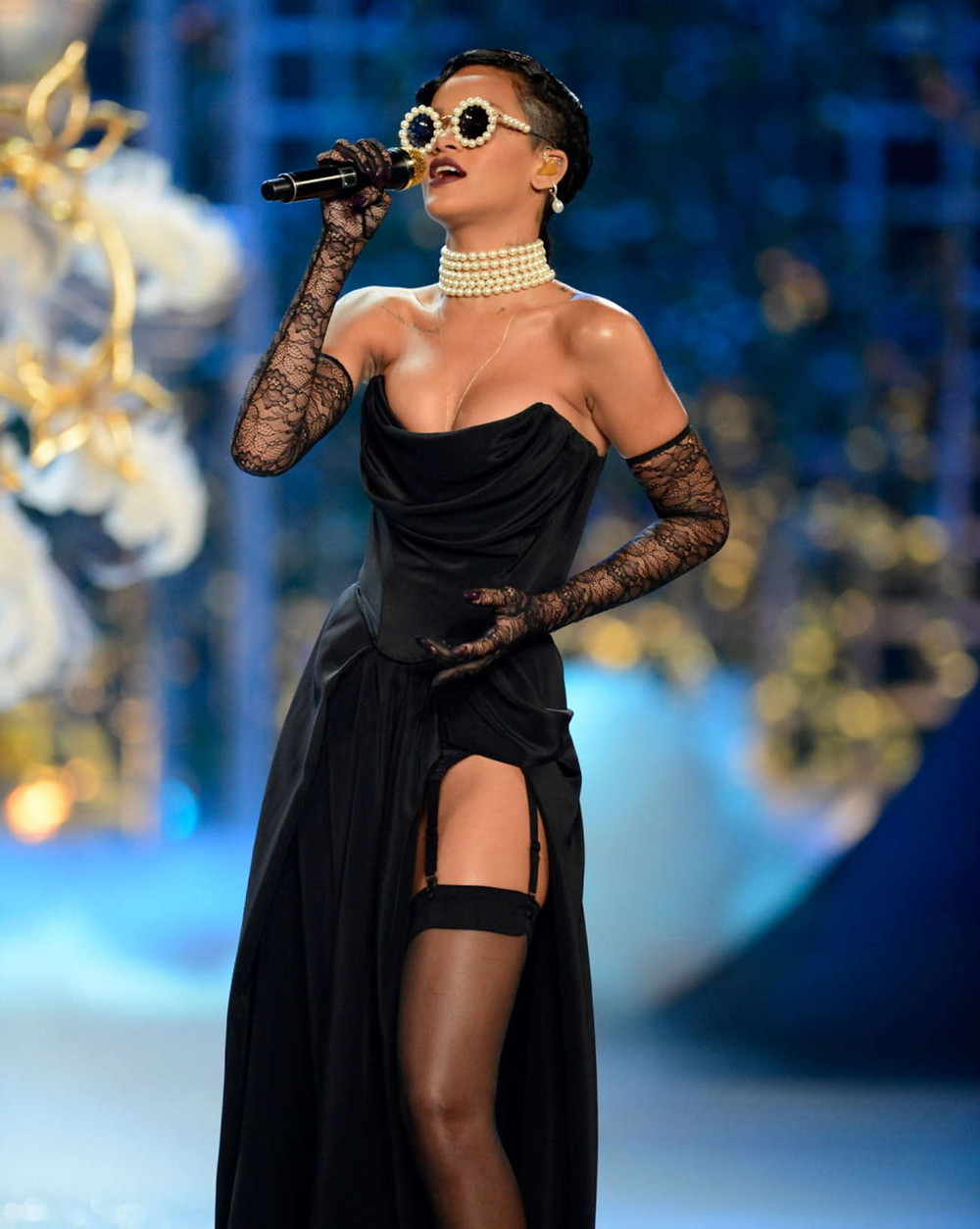 Rihanna at the 2012 Victoria's Secret fashion show runway