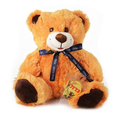 Chanukah Bear with Small Dreidel