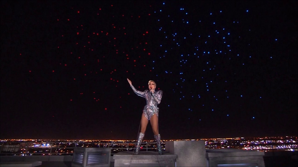 Lady Gaga performed at the NRG stadium in Houston, Texas