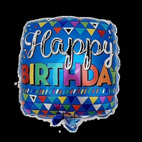 "Happy Birthday 9"" Balloon - Blue"
