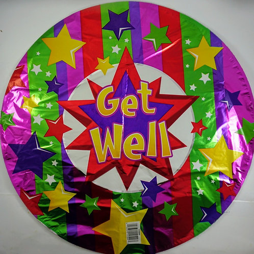 Get Well Balloon - Stars
