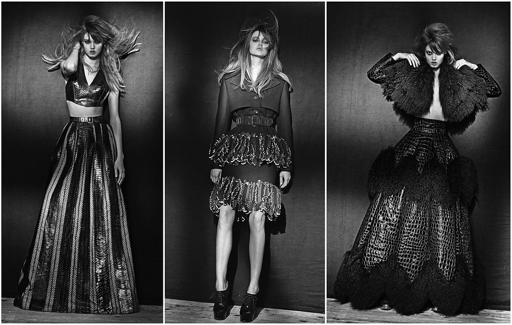 Lindsey Wixson in various Alaia looks