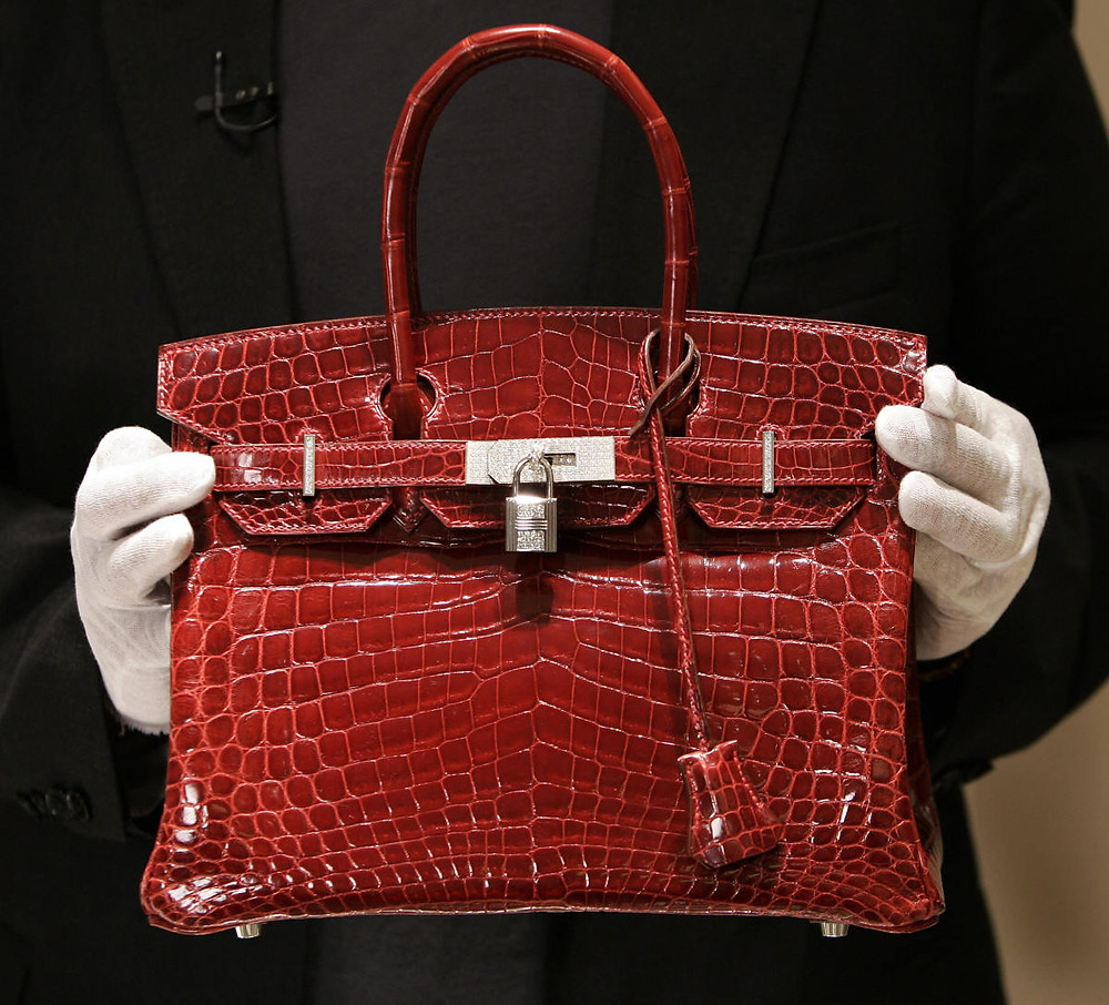 Red crocodile skin Birkin bag