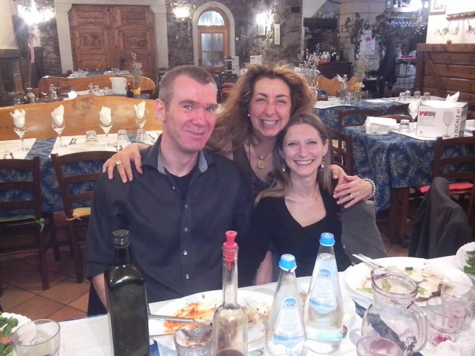 Chiara Dainelli, suo marito ed io
