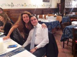 David Lombardi e io a cena