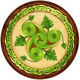Triskell verde con cornice intreccio
