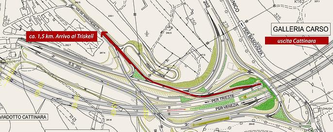 Mappa per raggiungere l'area del Triskell