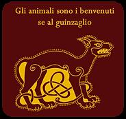 Gli animali sono i benvenuti se al guinzaglio