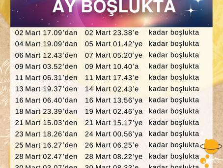 Mart 2021 Ay Boşlukta