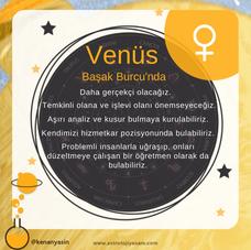 Venüs Başak Burcu'nda...