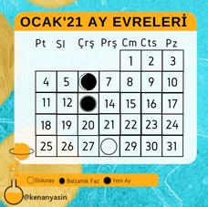 OCAK'21 Ay Evreleri