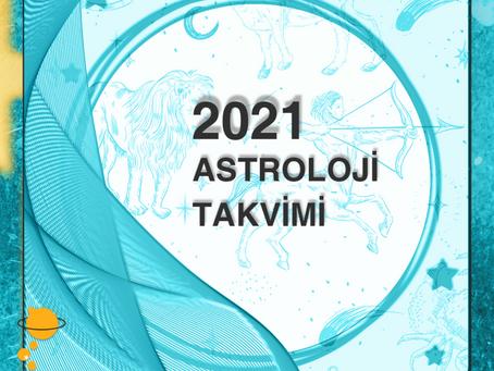 2021 Yılı Gezegen Geçiş Tabloları...