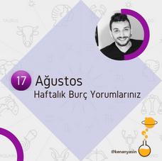 17 AĞUSTOS HAFTASI BURÇ YORUMLARI...