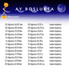 Eylül 2020 Ay Boşlukta