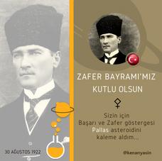 ZAFER BAYRAMI'MIZ ve Pallas Üzerine