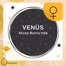 Venüs Akrep Burcu'nda...