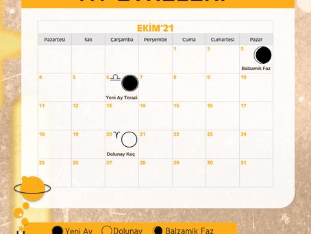 Ekim'21 Ay Evreleri