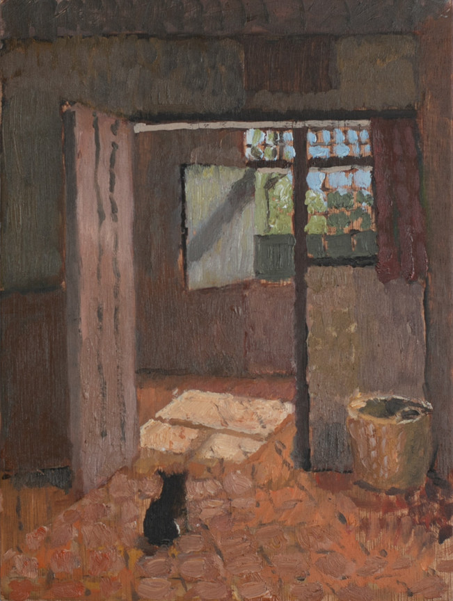 Interior with a Dog
