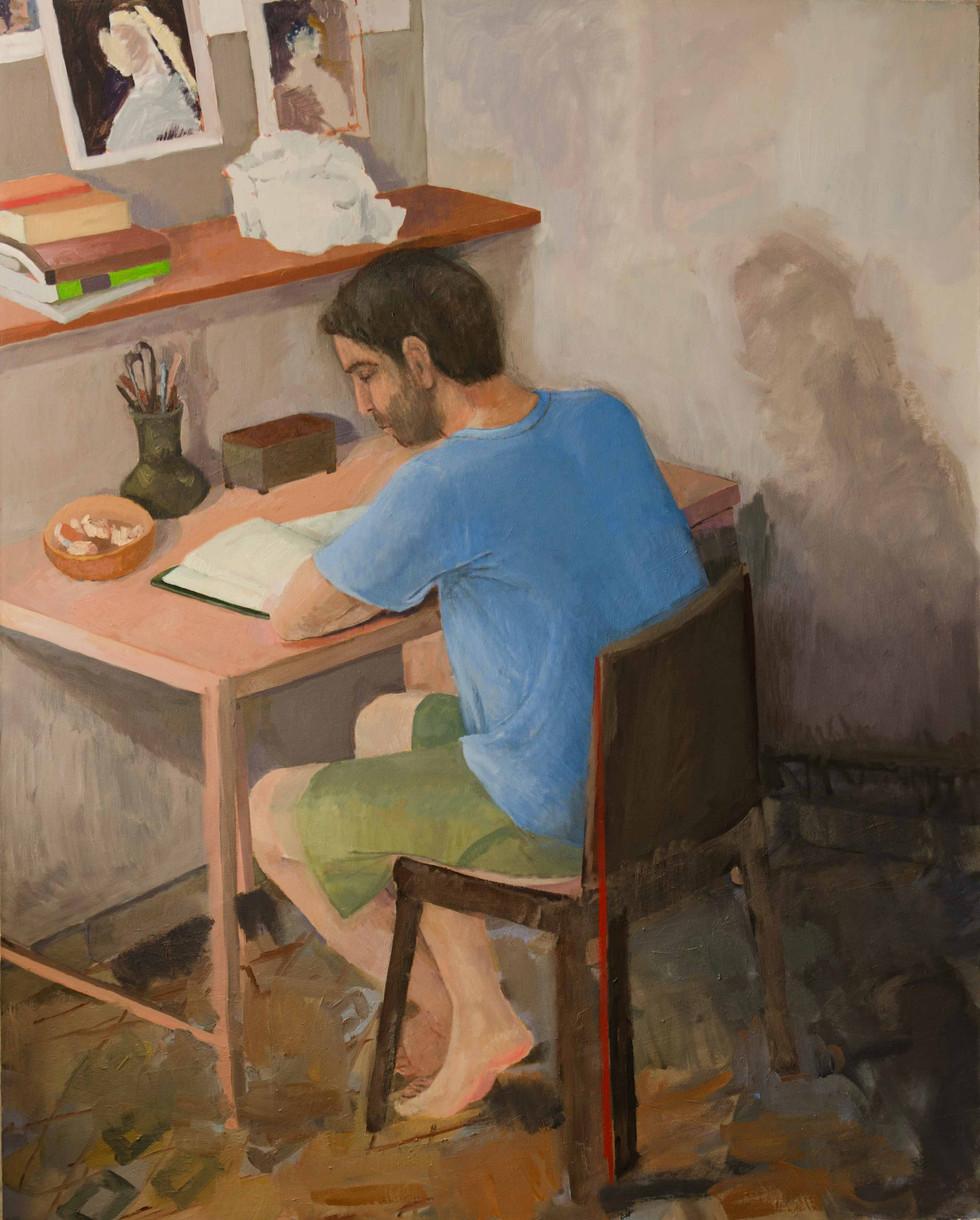 At his studies