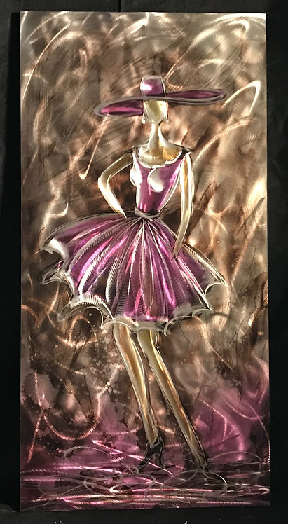 The lady in purple