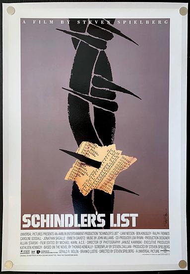 Schindler's List 1993 Unused Saul Bass Style