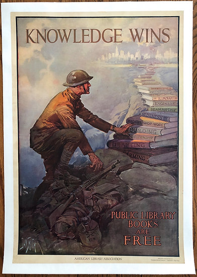 Knowledge Wins 1918 WWI - SOLD
