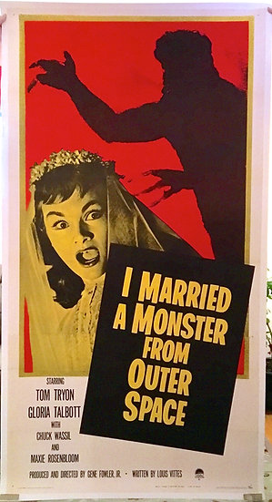 I Married a Monster From Outer Space 1958 Three Sheet