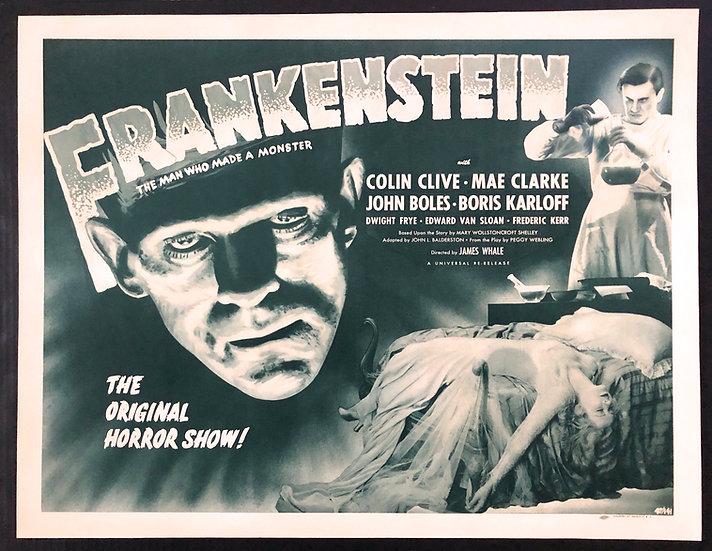 Frankenstein 1931 (R1947) w/ Boris Karloff Autograph