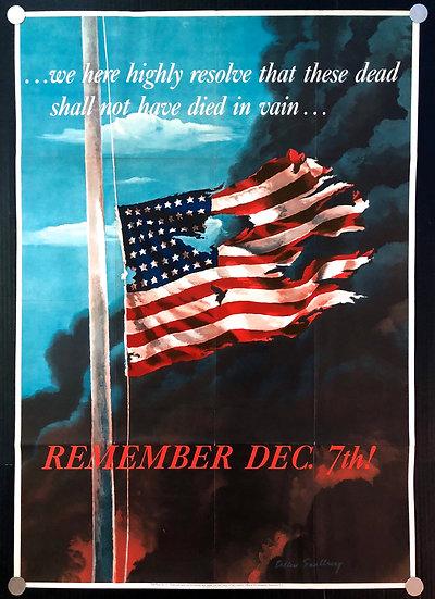 """Remember Dec. 7th!"" 1942 - SOLD"