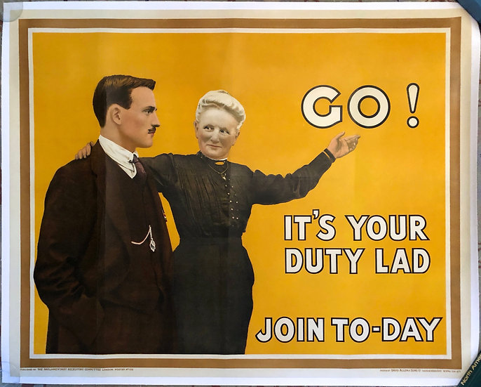 Go! It's Your Duty Lad 1915 - SOLD