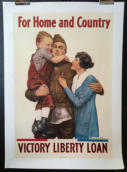 Victory Liberty Loan, For Home and Country 1918 - SOLD