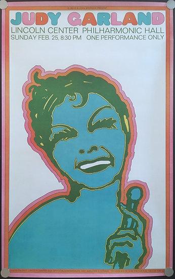 Judy Garland Concert Poster 1968 - SOLD