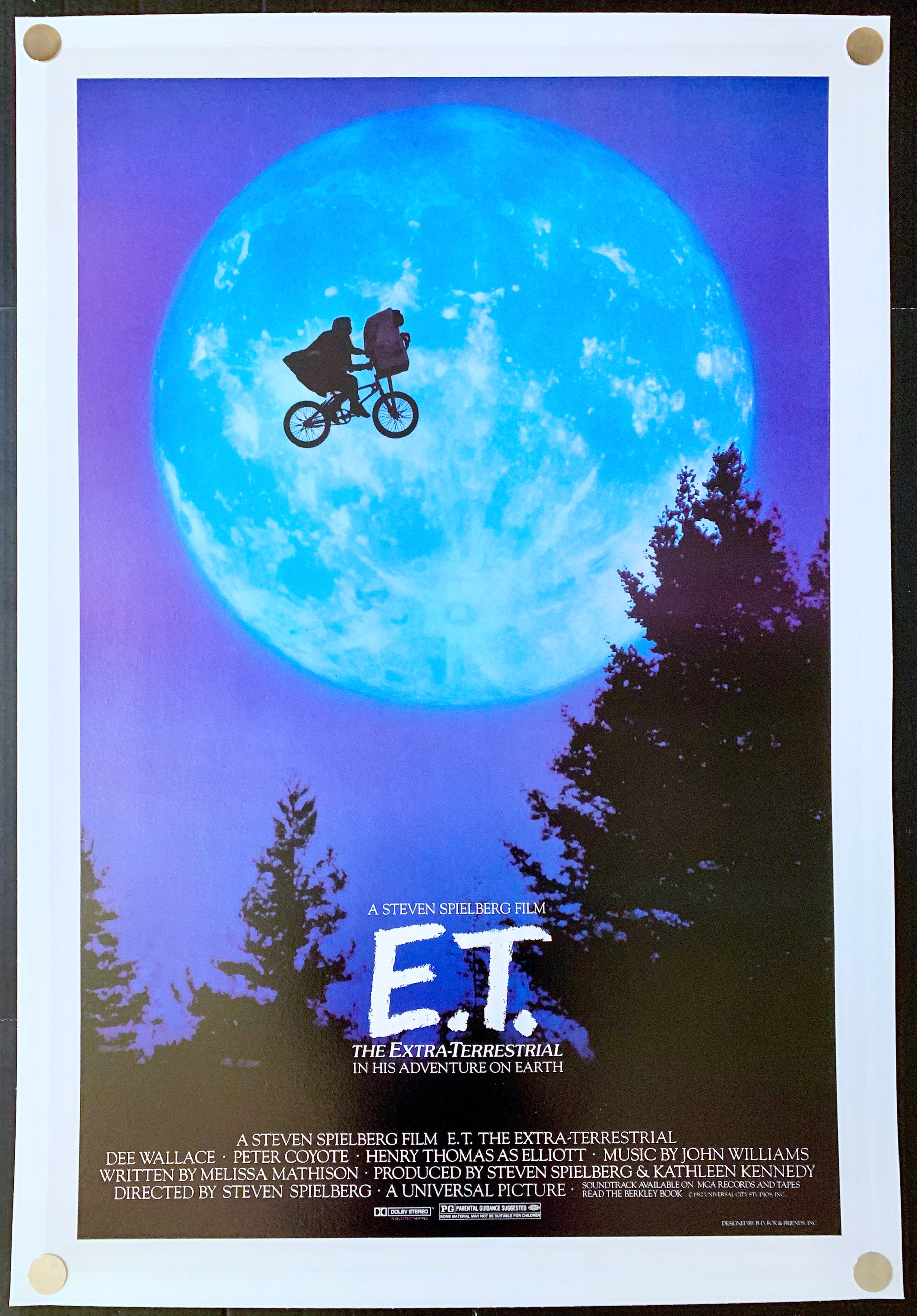 E T The Extra Terrestrial 1982 Vintage Film Art