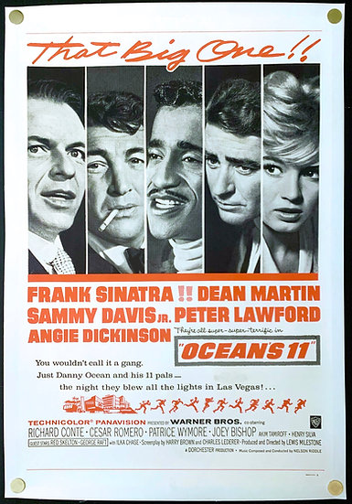 Ocean's 11 1960 Military One Sheet - SOLD