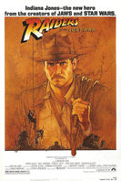 Raiders of the Lost Ark 1981 LINEN BACKED