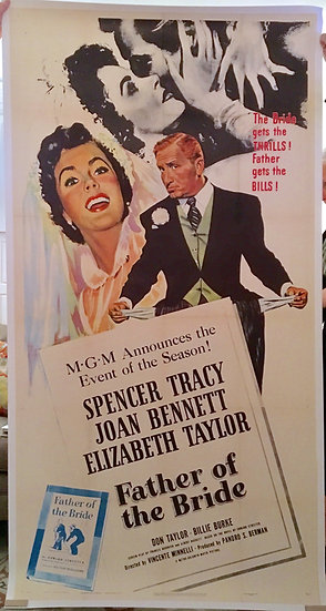 Father of the Bride 1950 Three Sheet - SOLD