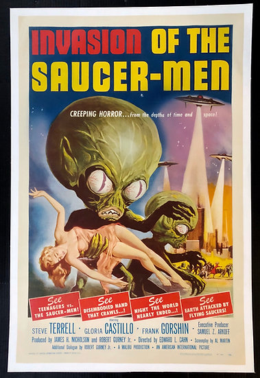 Invasion of the Saucer Men 1957 - SOLD