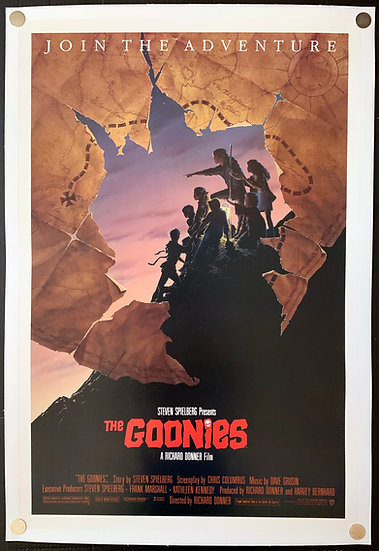 """The Goonies 1985 Style B """"Map Style"""""""