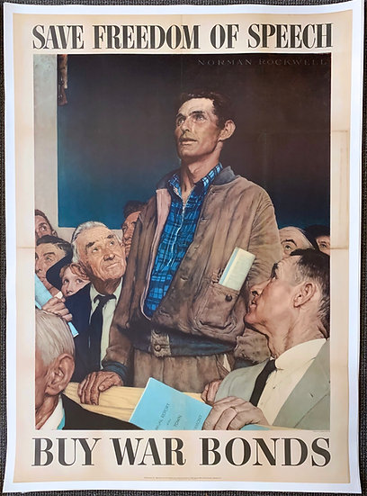 """""""The Four Freedoms"""" by Norman Rockwell - Complete Set (4)"""
