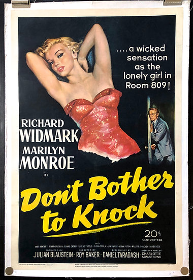 Don't Bother to Knock 1952 - Sold