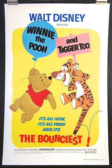 Winnie the Pooh and Tigger Too! 1974 - SOLD