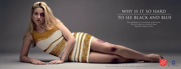 """The Salvation Army Put A Model In """"The Dress"""" For A Domestic Violence Advert"""