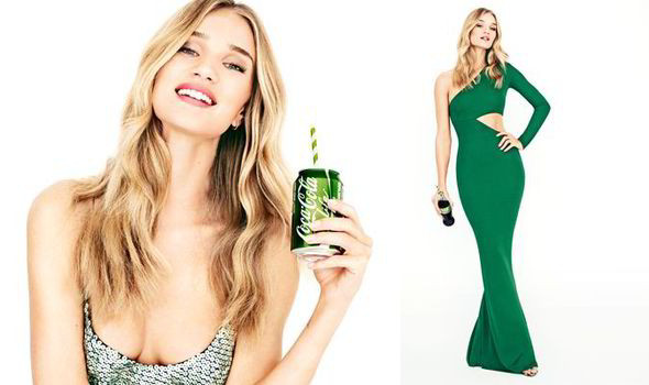 Rosie Huntington-Whiteley shaping up well as face of new Cola