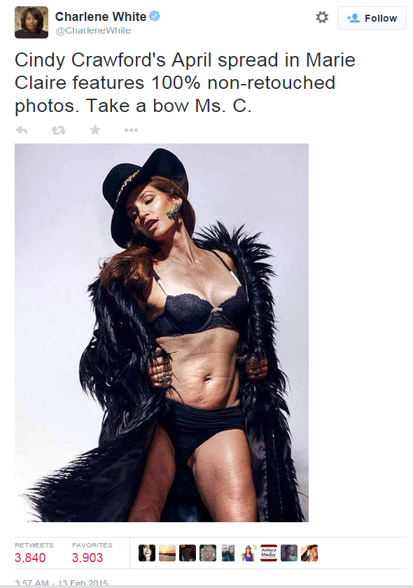 This Un-Retouched Photo Of Cindy Crawford Has Gone Viral