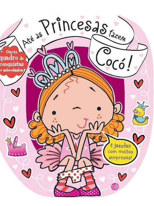Até as Princesas fazem Cocó! - Livro de histórias com oferta de autocolantes