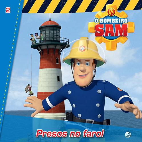 O Bombeiro Sam - Presos no farol: Livro de histórias