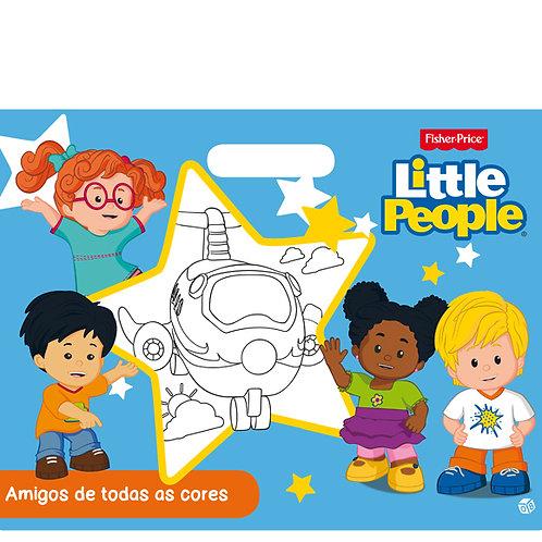 Little People - Amigos de todas as cores: Livro de pintar malinha