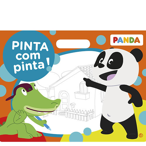 Panda - Pinta com pinta!: Livro de pintar malinha
