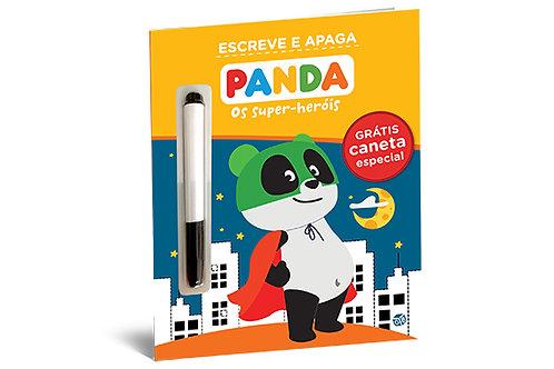 Panda - Os super-heróis: Livro de atividades  com oferta de caneta especial