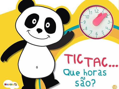 Panda - TIC TAC Vamos aprender a ver as horas!: Livro de histórias quiosque